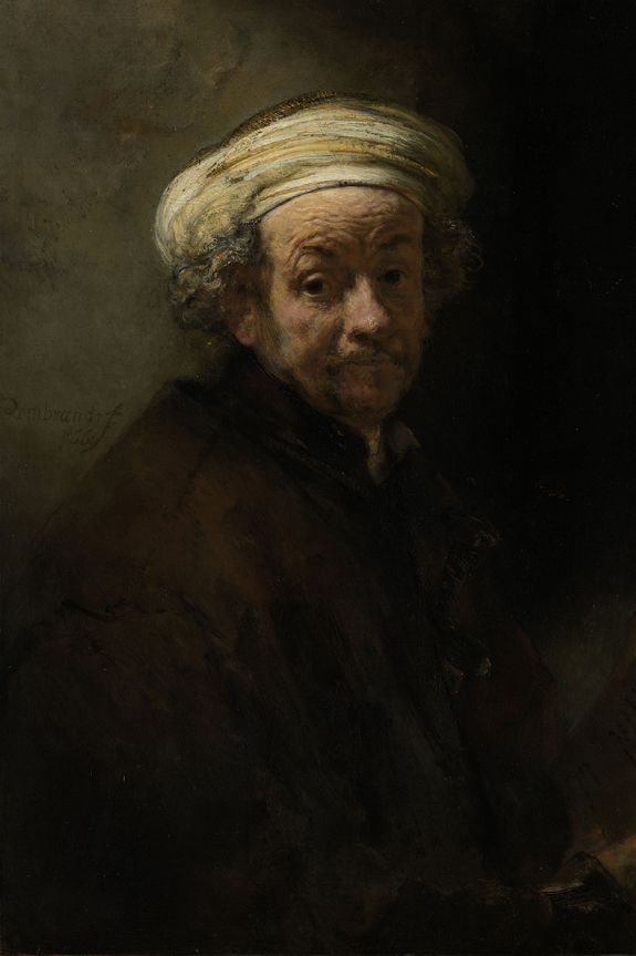 Neustrašivo oko - Rembrandt Harmensz. van Rijn - Self Portrait as the Apostle Paul (1661), oil on canvas