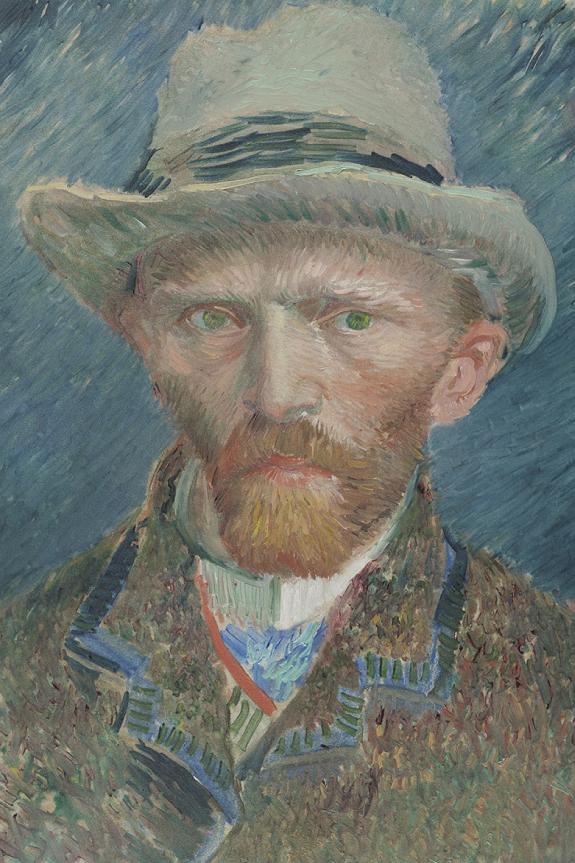 Neustrašivo oko - Vincent van Gogh - Self-portrait (1887), painting